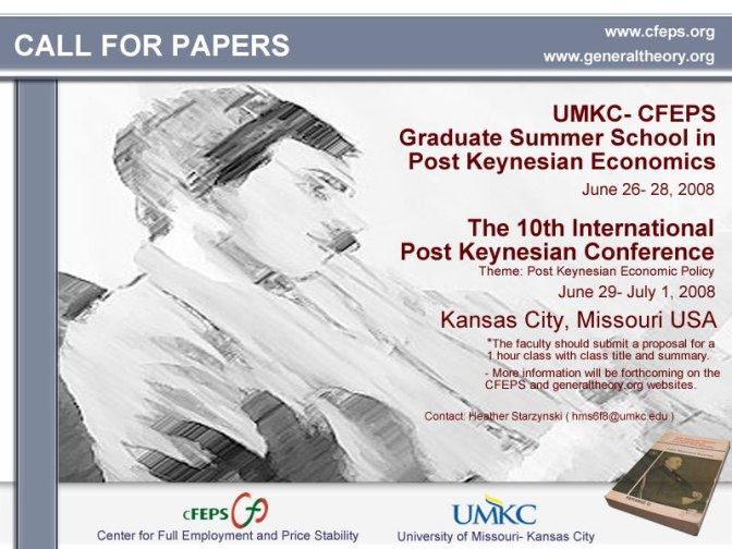 10th Post Keynesian Call for Papers